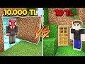 Download 10 TL GİZLİ GEÇİT VS 10.000 TL GİZLİ GEÇİT 😱 - Minecraft MP3,3GP,MP4