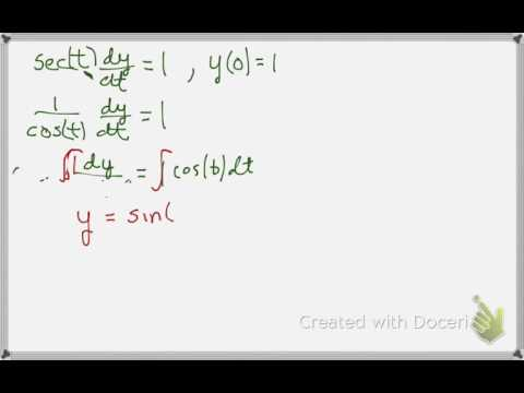 Solving a Differential Equation with Separation of Variables