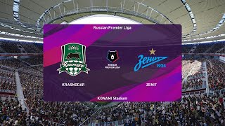 PES 2020 | Krasnodar vs Zenit - Russian Premier Liga | 05/07/2020 | 1080p 60FPS