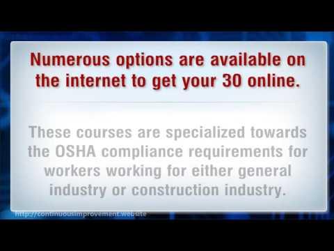 OSHA Certification - 30 Hour Training