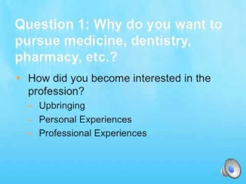 Write a Strong Medical School, Dental School, or Pharmacy School Personal Statement Part 3 of 6