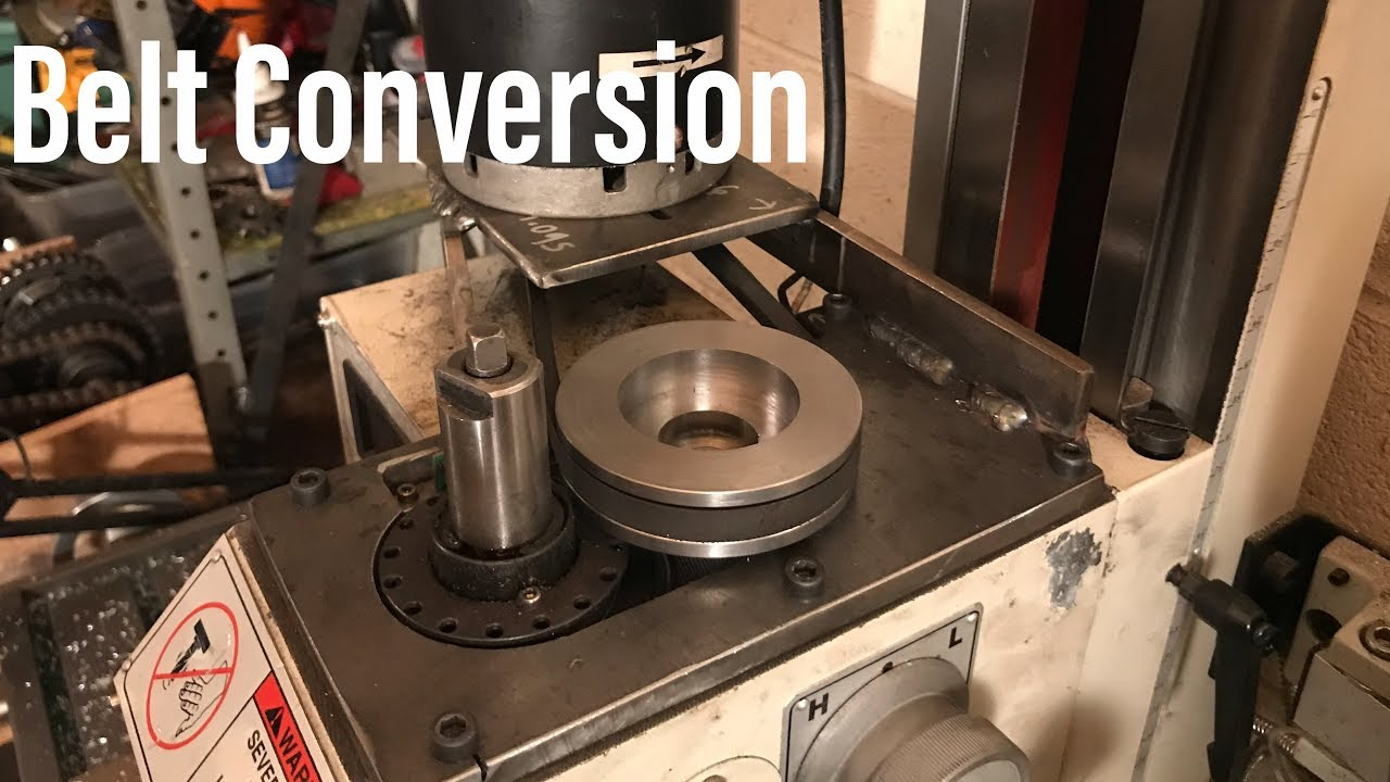 Belt Conversion for a Grizzly G0759 Vertical Mill