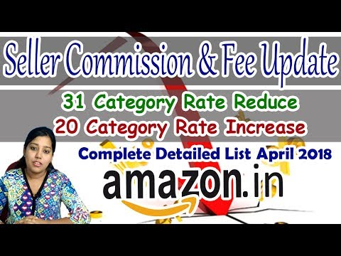 Amazon Seller Fee Charges Commission Revised   Latest Amazon India charges detail in Hindi