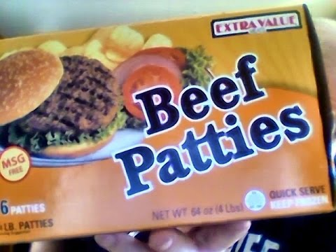 Extra value beef patties