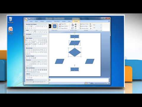 How to make a flow chart in PowerPoint 2007