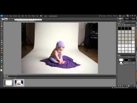 Editing a seamless backdrop