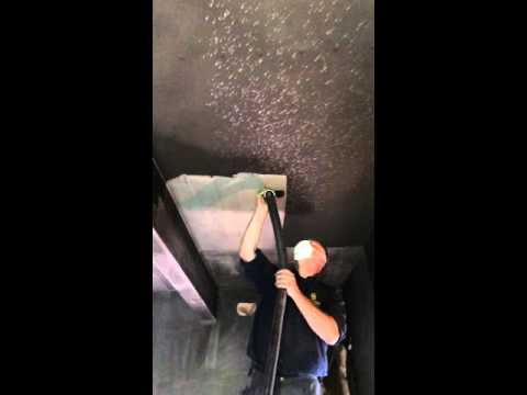 Remove Soot Damage from ceiling and walls