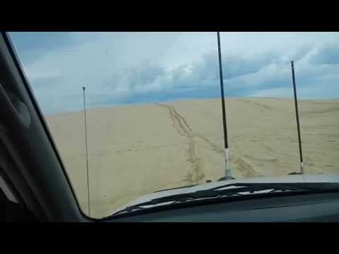 Driving the sand dunes on Stockton Beach