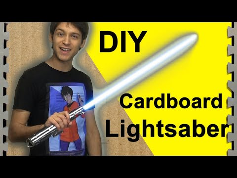 How To Make a Cardboard Lightsaber (DIY)