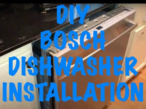 How to Install a Bosch Silence Plus Brand Dishwasher