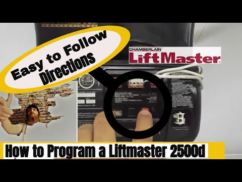 LiftMaster 2500 Garage Door Opener Electronic Limits/ Force Programming