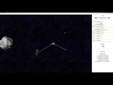 Javascript/HTML browser 4x space game (d3js/react)