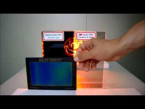 3M Crystalline Window Film Heat Rejection Capabilities vs Standard Films Using EDTM Heat-Sheet