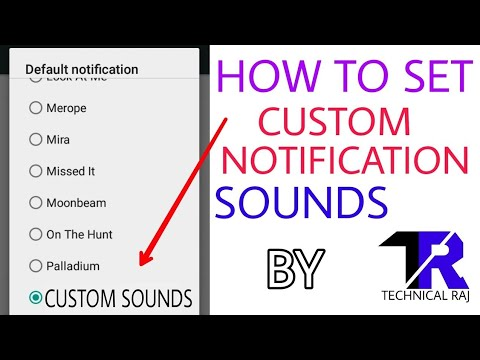 How to set Custom Notification sound in any Android phone in Hindi.