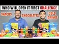 WHO WILL OPEN IT FIRST CHALLENGE Eating Challenge Food Eating Competition Food Challenge