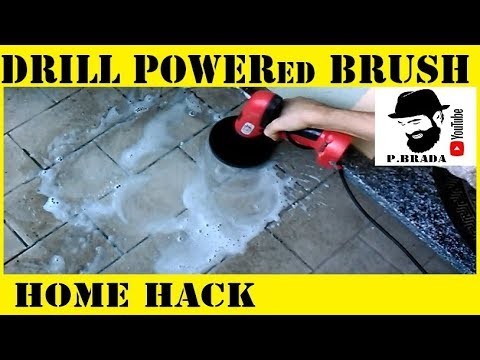 Brush to clean recycling old cordless drill