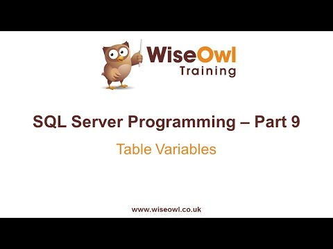 SQL Server Programming Part 9 - Table Variables
