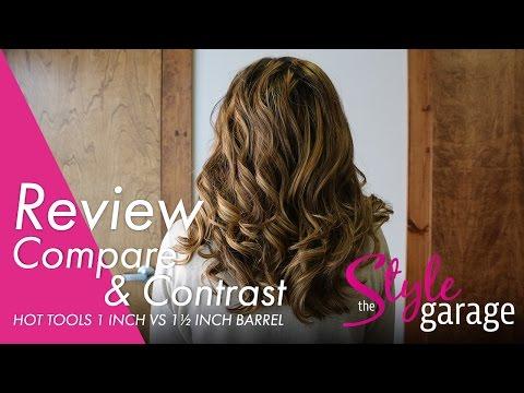 Comparing 1-Inch vs. 1 1/2-Inch Curls | HOT Tools XL Barrel