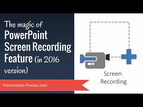 The magic of PowerPoint 2016 Screen Recording Feature