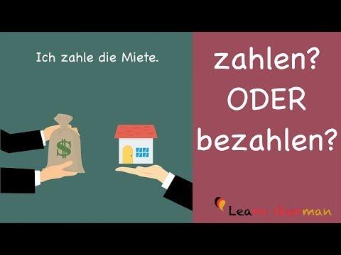Learn German   German Grammar   zahlen oder bezahlen?   A1   A2