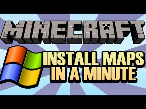 How To Install A Minecraft Map On *Windows* In 60 Seconds!