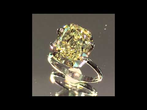 6 carat Cushion Yellow Diamond