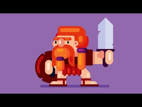 How to Draw a Video GAME CHARACTER - Adobe Illustrator Tutorial
