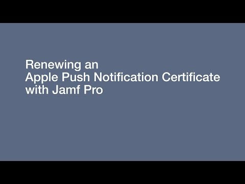 Knowledge Base - Renewing an Apple Push Notification (APNs) Certificate in Jamf Pro 9