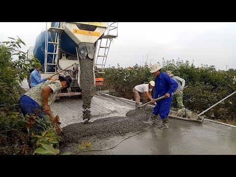 Concrete Mixer Truck Road Construction - How to Pour a Concrete Driveway