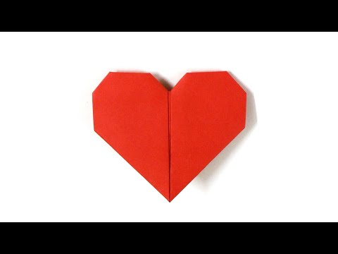 Lovely Paper Heart Made Easy / How To Make A Paper HeaRt/Love Sign