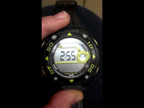 How to set the time on your Armitron all sport watch