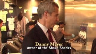 Danny Meyer Tours Battery Park Shake Shack