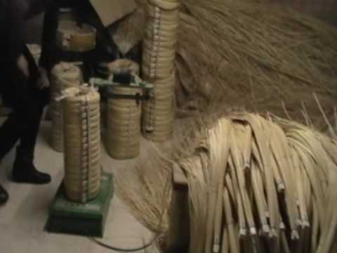Rattan vine to chair seat weaving material