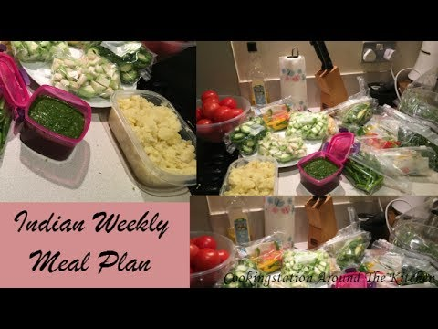 Indian weekly Meal Planning and Pre preparation | Meal Plan and storing tips in hindi |Meal Planning