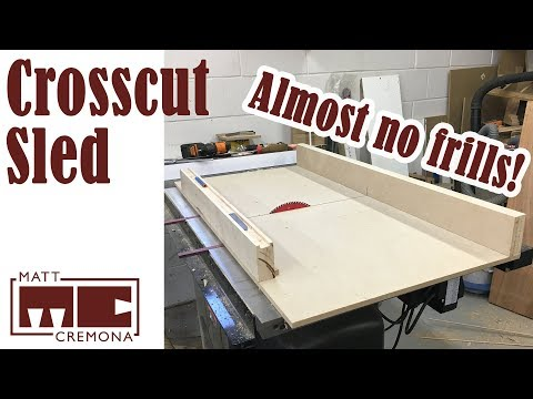 Simple Table Saw Crosscut Sled