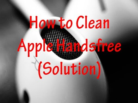 How to Clean your Apple Handsfree | Earpods | Earphones | Earbuds | Remove Wax safely - easily..!!