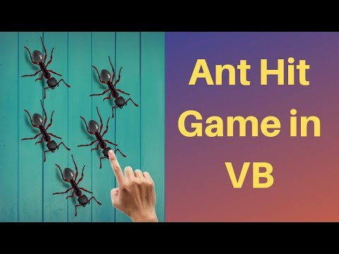 How to create game in visual basic(Ant hit game in vb)