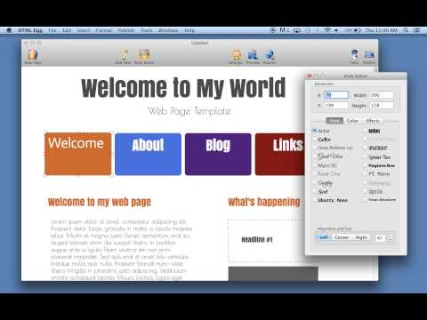 How to change web page font size and font style using HTML Egg for Mac