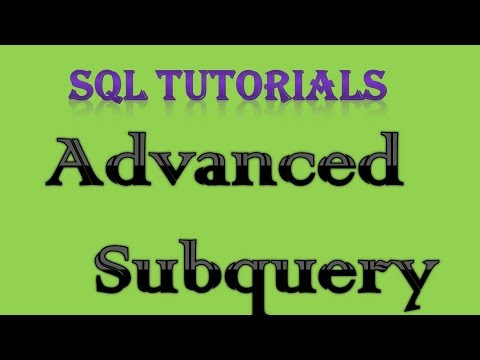 SQL Tutorial 12 Advanced Subqueries returning multiple columns