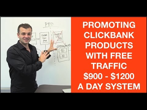How to promote ClickBank products without a website $900-$1200 a day system with free traffic