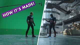 Marvel Studios' Avengers: Endgame — Making the Cap vs. Cap fight!