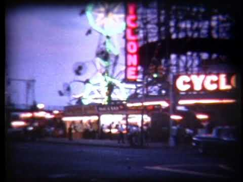 1961 Coney Island Skyride Cyclone Wonder Wheel