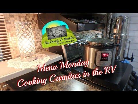Menu Monday in the RV - Today, Carnitas !