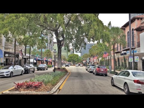 Driving Downtown - Fort Lauderdale Florida 4K