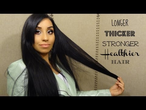 HOW TO GROW LONGER THICKER HAIR, UPDATES! TIPS!