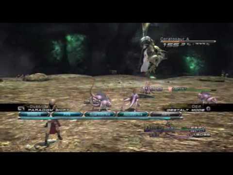 FINAL FANTASY XIII Eidolon battle - Odin(ENGLISH)