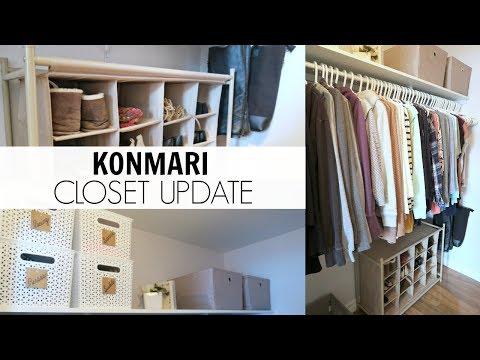KonMari Organization   Closet Makeover 2018