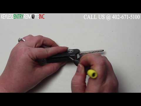 How To Replace Mazda 6 Key Fob Battery 2006 2007 2008 2009 2010