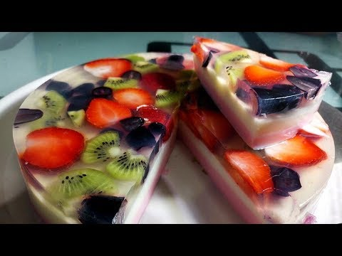 Jelly Fruit Halwa / Agar Agar (China Grass)  Pudding / Refreshing Dessert / चाइना ग्रास का हलवा