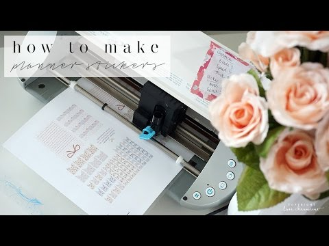 DIY How to Make Happy Planner Stickers with Silhouette! | FREE Downloads | Charmaine Dulak